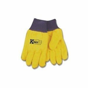 Kinco Chore Yellow Work Gloves Size L Farm Construction Gardening 12 Pairs