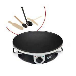 Non stick Electric Crepe Maker Griddle Grill Breakfast Pancake Cooking Plate