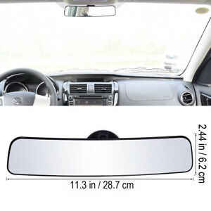Creative Fashion Panoramic Rear View Mirror Wide Angle With Suction Installation