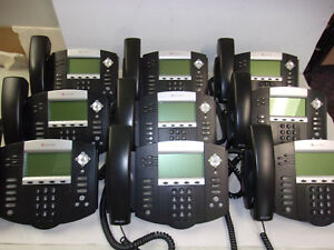 Lot Of 9 Polycom Soundpoint Ip 550 Sip Reset