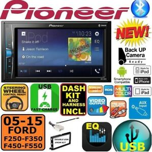 2005 2015 Ford F250 350 450 550 Pioneer Touchscreen Usb Aux Bluetooth Car Stereo