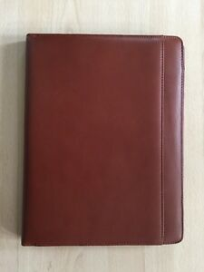 New Cutter Buck Chestnut Brown Portfolio folio With Writing Pad