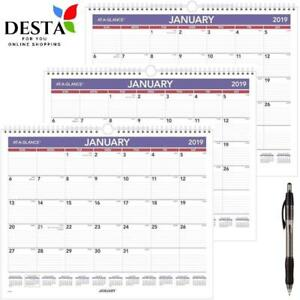 At a glance 2019 Monthly Wall Calendar January 2019 December 2019 14 7 8 X 11