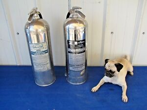 Two Vintage Badger General 2 1 2 Gallon Water Pressurized Fire Extinguishers