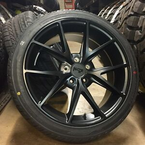 18 Niche Misano Black Wheels Rims Tires Package Acura Tsx