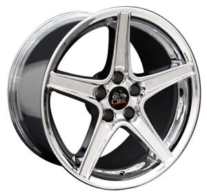 18 Ford Mustang Saleen Style Rims Wheels Replacement Chrome New Set Of 4 18x9
