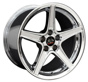 18 Ford Mustang Saleen Style Rims Wheels Staggered Replacement Chrome Set Of 4