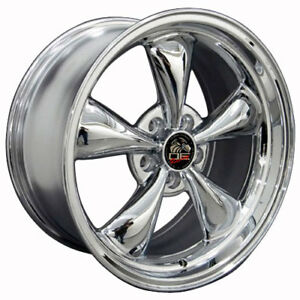 18 Ford Mustang Bullitt Style Rims Wheels Staggered Replacement Chrome Set Of 4