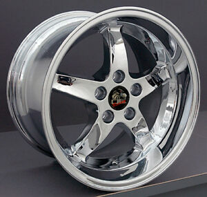 17 Ford Mustang Cobra R Style Rims Wheels Replacement Chrome New Set Of 4 17x9