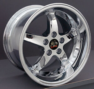 17 Ford Mustang Cobra R Style Rims Wheels Staggered Replacement Chrome Set Of 4