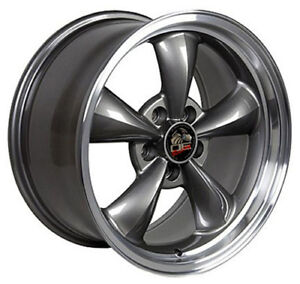 17 Ford Mustang Bullitt Style Rims Wheels Replica Anthracite And Machn D 17x9