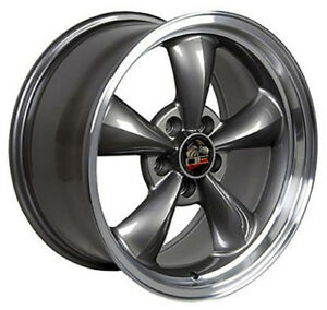 17 Ford Mustang Bullitt Style Rims Wheels Staggered Anthracite And Machn D Set