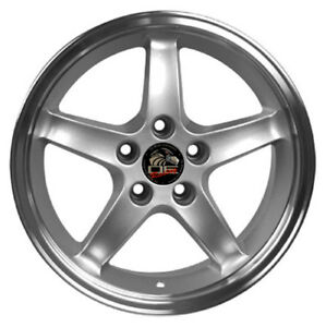 17 Ford Mustang Cobra R Style Rims Wheels Replacement Silver New Set Of 4 17x9