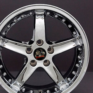 18 Ford Mustang Cobra R Style Rims Wheels Replacement Chrome New Set Of 4 18x9