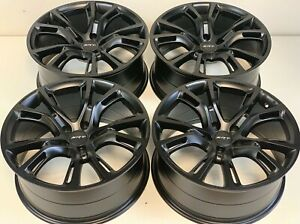 20 Jeep Grand Cherokee Srt Style Rims Wheels Str8 Satin Black 9113 Set Of 4 New