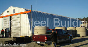 Durospan Steel 40x40x18 Metal Building Kits Storage Structures Factory Direct