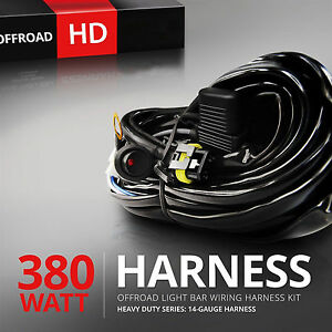 12v 40a Led Work Fog Light Bar Wiring Harness Relay Kit On Off Switch Off Road 9