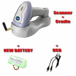Wireless Symbol Laser Handheld Barcode Scanner Battery usb Cable