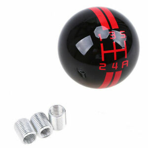 For Ford Mustang Shelby Gt 500 5 Speed Car Gear Shift Knob Shifter Black Ball