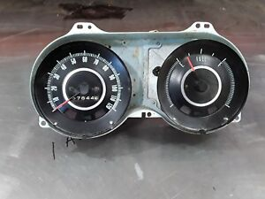 1967 Chevrolet Camaro Used Dash Gauge Cluster With Speedometer And Fuel Gauge