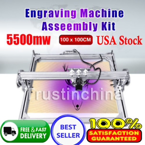 5500mw 100 100cm Laser Engraving Marking Machine Printer Engraver Cutter Us Fast