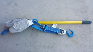 Lug all Model 4 2 Ton Web Strap Hoist Handle And Slide