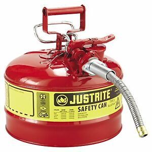 Portable Gas Can 2 5 two And One Half Gallon Safety Spare For Car Truck Boat