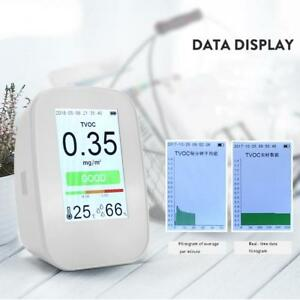 Lcd Digital Air Quality Monitor Pm2 5 tvoc hcho co2 Detector Gas Analyzer Tool
