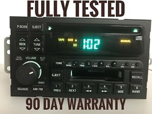 gm753 Buick Am fm Cassette Cd Player Park Ave Regal Century Lesabre