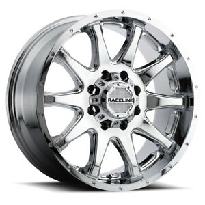 4 New Raceline Wheels 930 20x9 5x139 7 5x150 20 Chrome Tundra Dodge Offroad