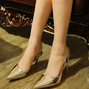 Female Long Foot Mannequin Silicone Model Shoes Display Size 36 T36