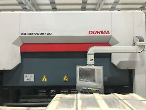 Durma Ad servo 25100 Servo Press Brake Crowning 7 Axis Hydraulic Clamping