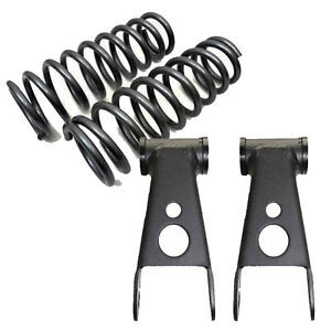 1965 1979 Ford F100 F150 3 Drop Front Lowering Coil Springs 2 Shackles 353430