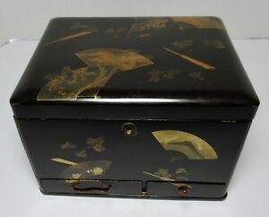 Antique Japanese Signed Lacquer Box Meiji