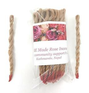 Home Made Organic Rose Rope Incense Hand Made In Nepal Bundle Contains 45 Ropes