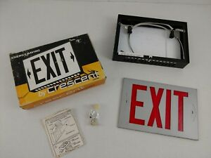 Vintage Lighted Exit Sign Top Mount New In Box Free Ship