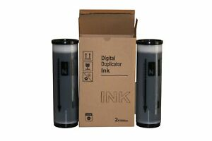 2 Wholesale Widgets Brand Black Ink Tubes Compatible With Riso S 4254 For Use