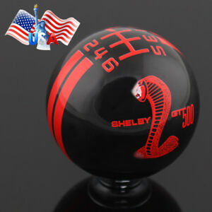 Manual 6 Speed Mt Gear Shift Knob For Ford Mustang Shelby Gt 500 Cobra Car Us