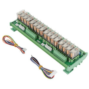12v 16ch Relay Module For Plc Amplifier Board din Rail Installation 1 On 1 Off