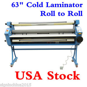 Usa 110v 63 Full auto Low Temp Heat Assisted Wide Format Cold Laminator stand