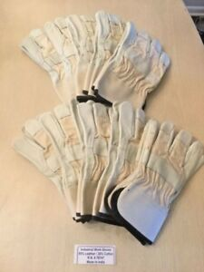 10 Mens Industrial Leather Work Gloves Size Xl Free Shipping R n 78747