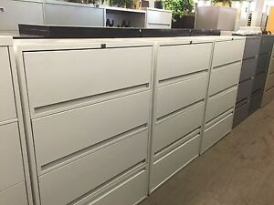 4dr 36 wx18 dx51 h Lateral Size File Cabinet By Storwal W Lock