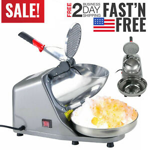 Commercial Ice Shaver 300w Electric Snow Cone Crusher Maker Machine 143lbs Usa