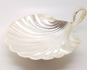 Meriden Britannia Sterling Silver Handled Shell Footed Dish Wb92a