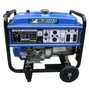 Blue Max 8000 Watt Generator 13 Hp Gasoline Powered Camping Emergency wheel Kit