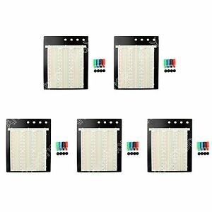 5pcs Universal Solderless Breadboard 2390 Tie Point Pcb Test Circuit For Arduino