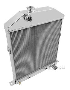 1942 1948 Ford Coupe W Chevy Conversion Radiator 2 Row 1 Tubes American Eagle