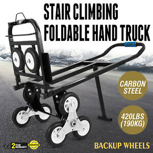 Stair Climbing Cart 420 Lbs Capacity Hand Truck With Backup Wheels Transporting