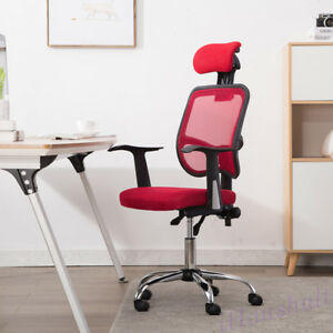 Red Mesh Office Chair Computer Desk Gaming Seats Work Chair Adjustable Height