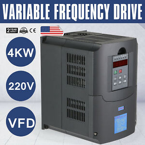 4 0kw 220v 5hp Variable Frequency Drive Inverter Vfd New